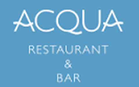 Acqua Restaurant & Bar Gift Cards