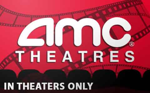 AMC Theatres (In Theatre Only) Gift Cards
