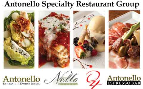 Antonello Specialty Restaurant Group Gift Cards