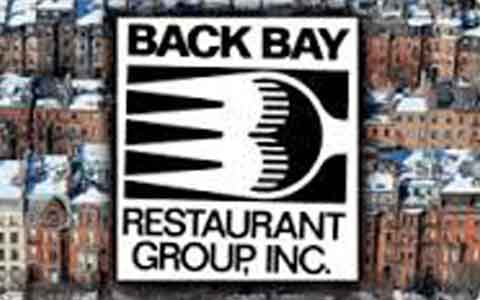 Back Bay Restaurant Group Gift Cards