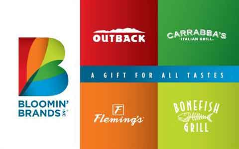 Bloomin' Brands Restaurants Gift Cards