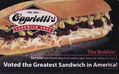 Capriotti's Sandwich Shop Gift Cards