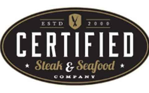 Certified Steak & Seafood Gift Cards