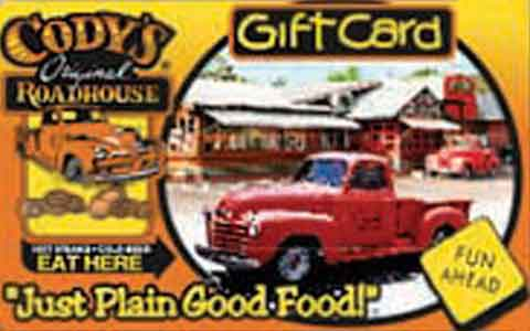 Codys Original Roadhouse Gift Cards