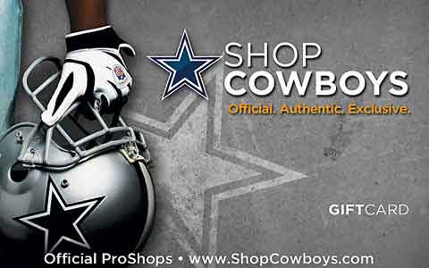 Buy Dallas Cowboys Pro Shop Gift Cards