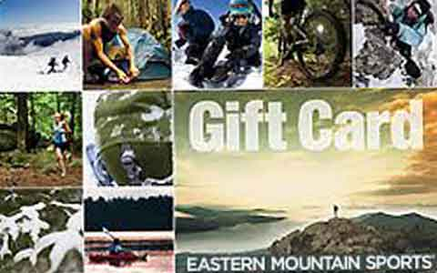 Buy Eastern Mountain Sports Gift Cards