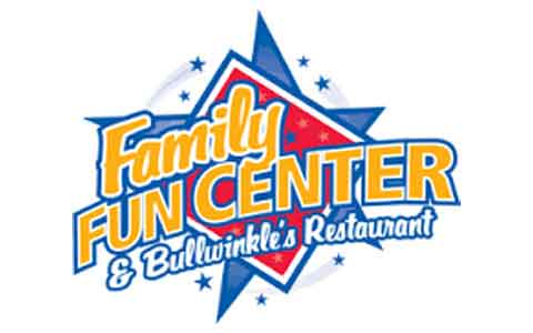 Family Fun Center & Bullwinkle's Restaurant Gift Cards