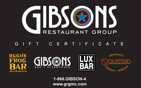 Gibson's Restaurant Group Gift Cards