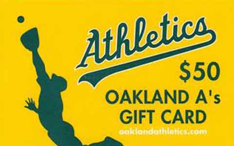 Buy Oakland Athletics Gift Cards