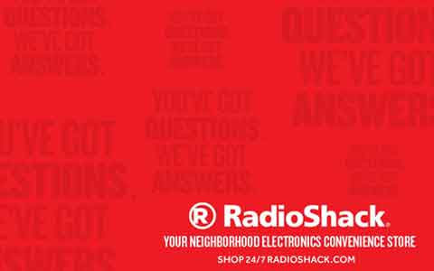 Buy RadioShack Gift Cards